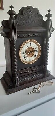 £95 • Buy Antique Ansonia American 8 Day Ornate Chiming Mantle Clock. Good Working Order