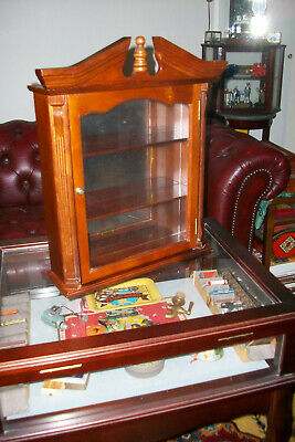 $59.95 • Buy Vintage Wood And Glass Wall Curio Display Case Cabinet