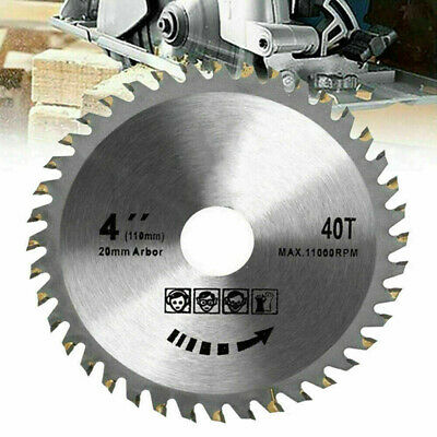 £5.32 • Buy 110mm Circular Saw Blade Disc Wood Cutting 4  40 Teeth Fits For Angle Grinder