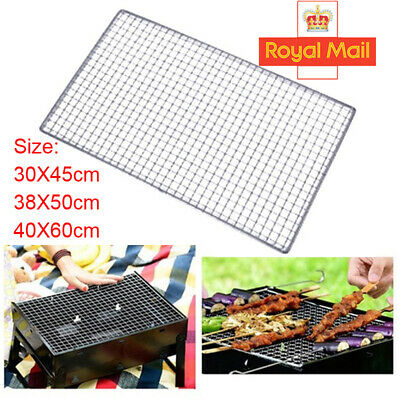 £5.95 • Buy BBQ Grill Grate Grid Wire Mesh Rack Cook Replacement Nets Stainless Steel