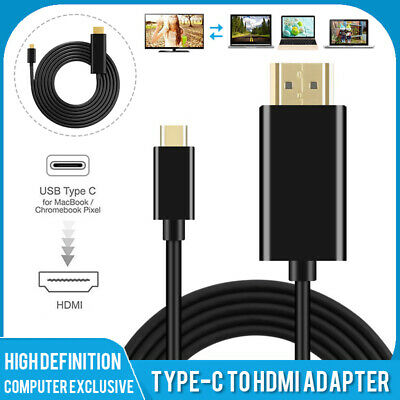 $10.99 • Buy Type-C USB-C To HDMI 4K TV Adapter Converter Cable Wire For Macbook Chromebook