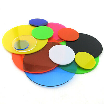£1.85 • Buy Color Plastic Sheet Round Acrylic Plate DIY Model Craft 20mm-400mm