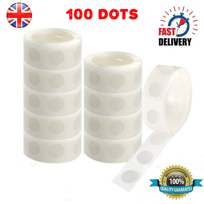 £1.59 • Buy Balloon DIY Glue Dots Sticky Craft Clear Dot Card Party Scrap Wedding 100 Dots