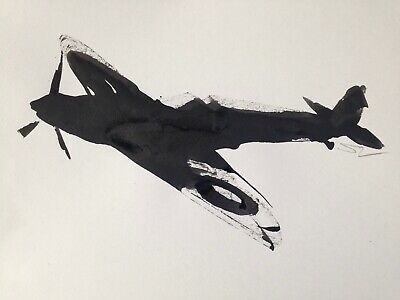 £20 • Buy Original Signed Ink Sketch Painting Of A Spitfires A4 Approx.