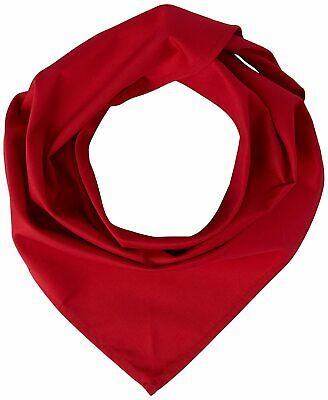 £4.99 • Buy Chefs Clothing Uniform A054 Neckerchief, Red Cambric Cotton, Size: 36  X 25
