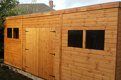 £1790 • Buy SHED/WORKSHOP 14x8 Heavy Duty T&G 3x2 Framing FREE DELIVERY And FITTING