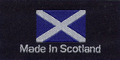£2.96 • Buy Woven Garment Labels Made In The Scotland 25mm X 50mm, Pack Of 10