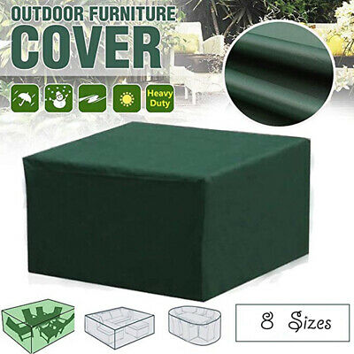 £9.79 • Buy 8 Size Waterproof Patio Furniture Set Cover Covers For Outdoor Rattan Table Cube