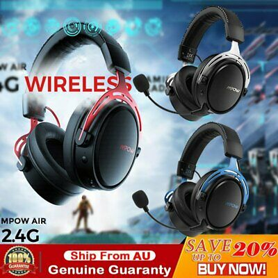 AU78.39 • Buy Mpow Air 2.4G Wireless Gaming Headset Over Ear PS4 PC Headphone Noise Cancelling