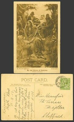 £7.99 • Buy Harold Copping By The Rivers Of Babylon, Young Woman With Harp 1913 Old Postcard