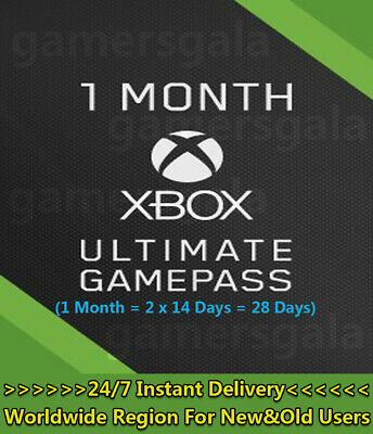 $ CDN4.93 • Buy Xbox 1 Month (Ultimate) Game Pass + Live Gold (2x 14 Day Trial) Code Global Card