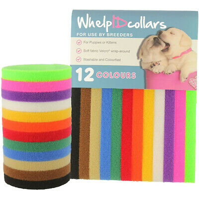 £4.27 • Buy 12 Colors Puppy Litter Identification Snap Collars ID Bands For Kittens Rabbits