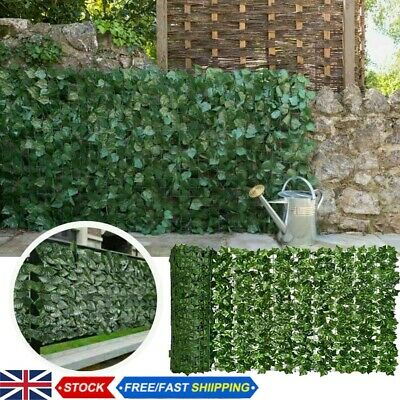 £12.49 • Buy Artificial Hedge Ivy Leaf Hedge Panels Roll Privacy Screening Garden Fence Decor