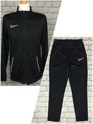 £22.50 • Buy Nike Mens Black White Piping Academy Essential Track Top/pants *sold Separately*
