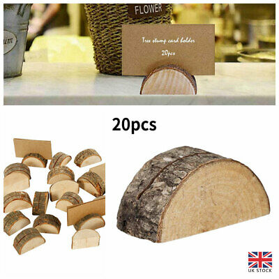 £13.30 • Buy Wooden Table Card Holder Stand Number Place Name Menu Party Wedding Decoration
