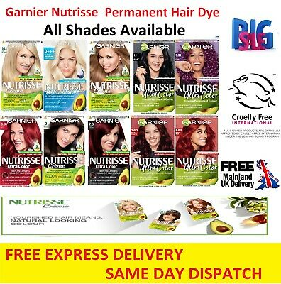 £8.35 • Buy Garnier Nutrisse Creme/Ultra Color Hair Dye Permanent All Colour Shade Available