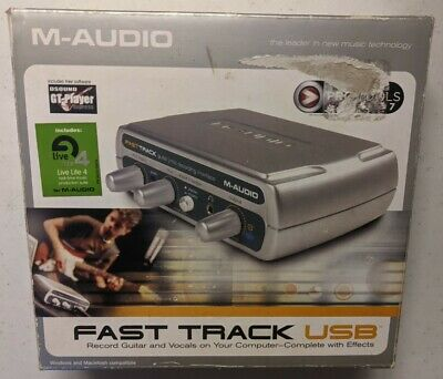 $25 • Buy M-Audio Fast Track USB Audio Interface Sound Card (XLR + Guitar To PC) TESTED