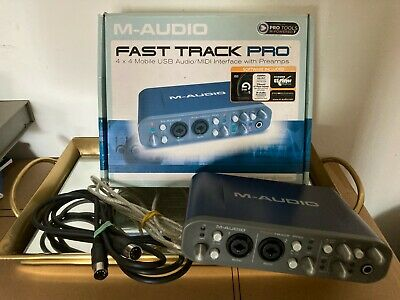 $89 • Buy M-Audio Fast Track Ultra Interface For Pro Tools & Cable