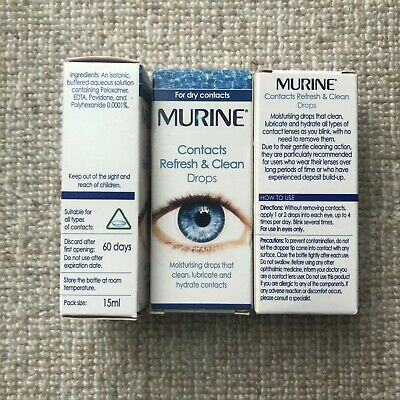 £5 • Buy 3 Packs Of Murine Contacts Refresh & Clean Eye Drops 15ml—- Exp 01/21