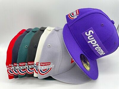 $ CDN146.17 • Buy Supreme New Era   Opening Day  World Famous Box Logo Fitted Hat Multiples SS20