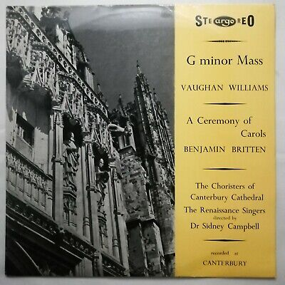 £20 • Buy Vaughan Williams: Mass In G Minor Etc / Campbell / Argo LP ZRG 5179 GROOVED OVAL