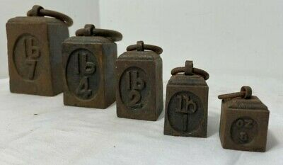 £50 • Buy Collection Vintage Cast Iron -gpo- Cast Iron Weighing Scales Weights