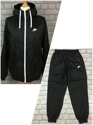£29.50 • Buy Nike Mens Black Hoxton Woven Hooded Full Zip Track Top/pants *sold Separately* A