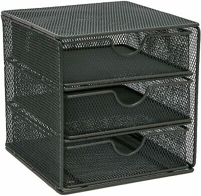 £10.99 • Buy OSCO Small Wire Mesh 3 Drawer Chest - Graphite