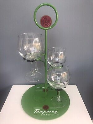 £45 • Buy Tanqueray Gin Tree Holder Home Bar Brand New Cocktail Holder With 4 Gin Glasses