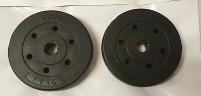 £14.95 • Buy 2x Pro Power WEIGHT PLATES 2.5kg  (2 X 2.5kg)