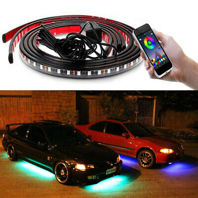 $25.77 • Buy JDM RGB LED Underbody Car Neon Light Chassis Atmosphere Lamp Light APP Control
