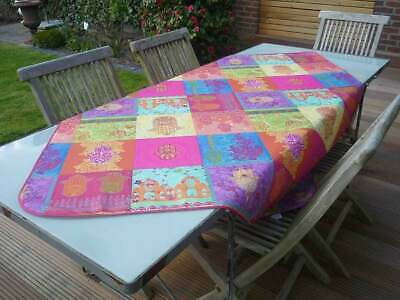 £15.08 • Buy Tablecloth Provence 100x150 CM Pink Turquoise France Easy-Care Non-Iron