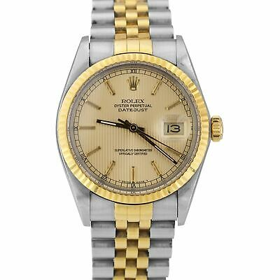 $ CDN6691.42 • Buy Rolex DateJust 36mm Two-Tone Yellow Gold Tapestry Champagne Jubilee Watch 16013