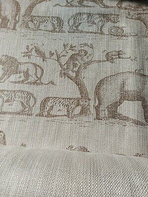 £275 • Buy Andrew Martin 'Jungle' Fabric Linen / Taupe 16 Metres