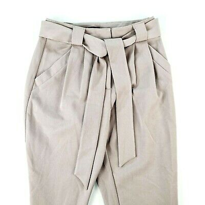 AU49.99 • Buy FOREVER NEW Womens Warm Grey Paper Bag Casual Pants Size 8