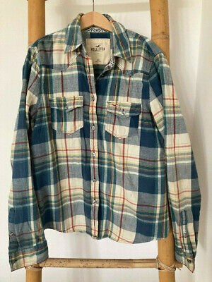 £4.75 • Buy Hollister Blue Checked Shirt (XS)