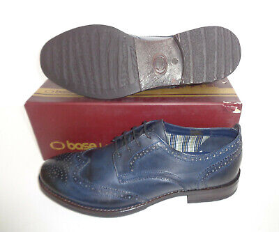 £27.98 • Buy Base London Mens Leather Navy Brogues Casual Formal Brogues Shoes New UK Size 8