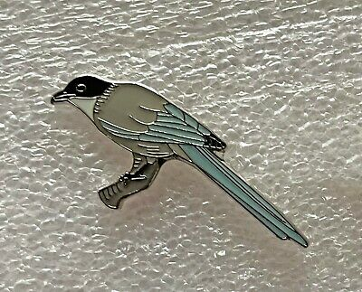 £5.60 • Buy Iberian Azure-winged Magpie Bird Pin Badge, RSPB Interest. Limited Edition