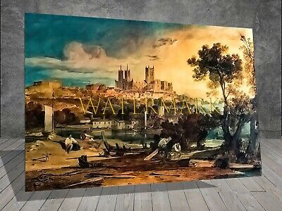 £6.99 • Buy J M W Turner Lincoln Cathedral Holmes PAINTING PRINT CANVAS ART POSTER 450
