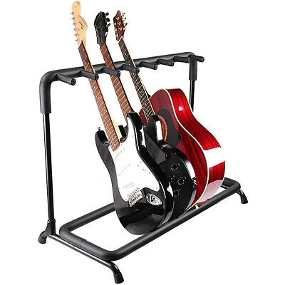 $ CDN74.54 • Buy Multi Guitar Stand 7 Or 9 Holder Foldable Display Rack For Acoustic Or Electric