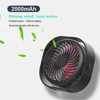 £11.99 • Buy USB Desk Table Fan 3 Speed Mini Quiet Rechargeable Portable Personal Cooler