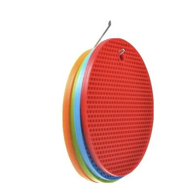 £4.79 • Buy 2× Silicone Heat Resistant Mats Heat Proof Hot Pot Pan Round Pads Non Slip Multi