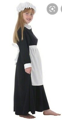 $11.12 • Buy Kids Fancy Dress Parlour Maid Victorian Girl Costume Size 8-10 Years