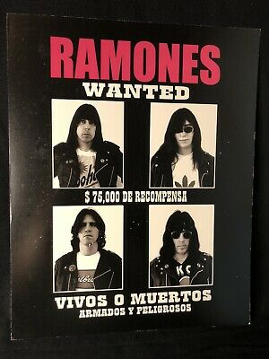 £12.33 • Buy RAMONES Post Card Print 8x10  Art Photo Small WANTED Poster Punk 80s Joey Marky