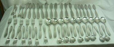 $999.99 • Buy Lauffer MAGNUM 51 Piece Stainless Steel Flatware Norway 21E038