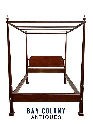 $4275 • Buy 20th C Henkel Harris Queen Size Mahogany Four Post Tester / Canopy Bed