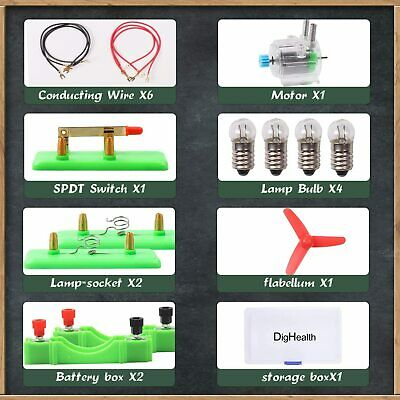 AU17.95 • Buy Electric Circuit Kit Educational Toy Science Experiment Motor Bulb For Kids STEM