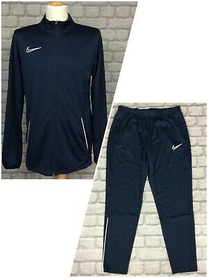 £22.50 • Buy Nike Mens Navy White Piping Academy Essential Track Top/pants *sold Separately*