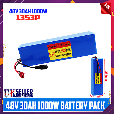 £84.99 • Buy 48v 30Ah Battery For Electric Bicycle Ebike Li-ion Volt Rechargeable Motor 1000W