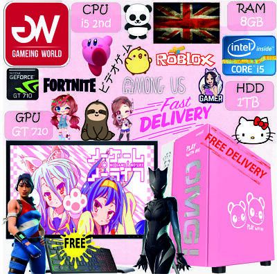 AU547.05 • Buy LIGHTSPEED OMG PINK GAMING COMPUTER PC I5 2nd 8GB 1TB GT710 FREE 19  SCREEN+MORE